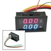 Voltimetro Amperimetro 0 100v 10a Dual Display Led Favix Dc
