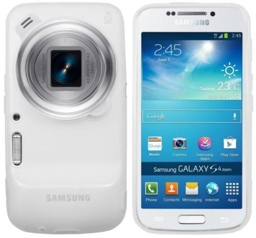 Capa Silicone SM C1010 Galaxy S4 Zoom Samsung Clear White  - HARDFAST INFORMÁTICA