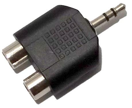Plug Adaptador 2x Rca Femea x P2 3.5mm Macho Áudio Jack  - HARDFAST INFORMÁTICA