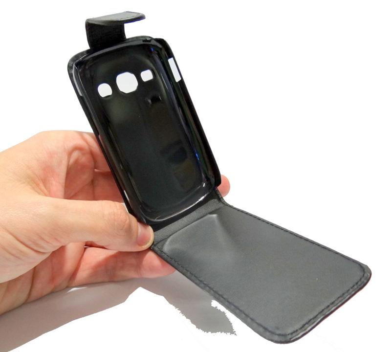 Capa Couro Samsung Galaxy Fame S6812 Preto Capinha Celular  - HARDFAST INFORMÁTICA