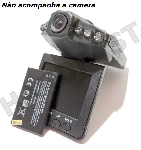 Bateria camera Espiã Filmadora HD Dvr Veicular Alta duração   - HARDFAST INFORMÁTICA