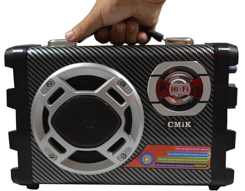 Caixa Som Portatil Usb Karaoke Fm Mp3 Rca Mic 120W Sd Amplif  - HARDFAST INFORMÁTICA