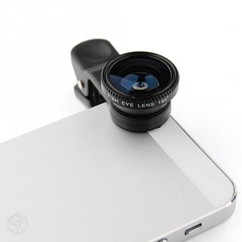 Kit De Lentes Fish Eye E Macro Para Iphone Ipad Samsung Galaxy Nokia Lumia Motorola  - HARDFAST INFORMÁTICA