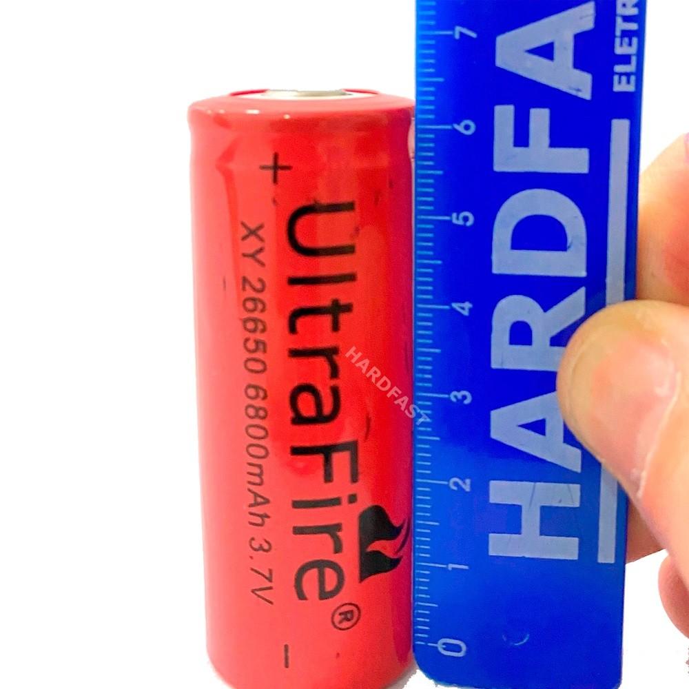 2x Bateria Pilha 26650 3.7v 6800mah Recarregável Para Lanterna X900  - HARDFAST INFORMÁTICA