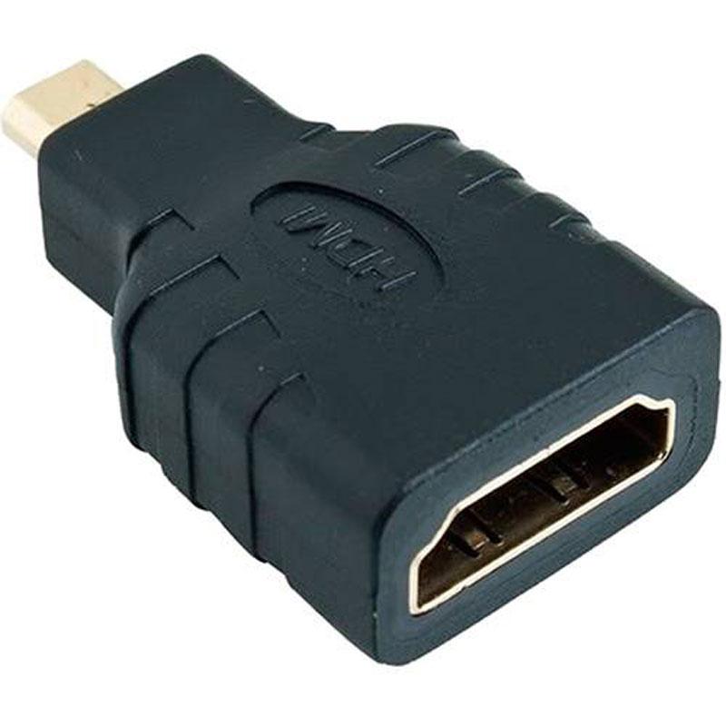 Adaptador Micro HDMI x HDMI Fêmea 4k Full Hd Audio Video Stereo  - HARDFAST INFORMÁTICA