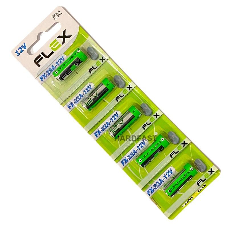 Bateria Pilha 23a 12v Cartela 5 Peças Alcalina Alarme Portão Controle  - HARDFAST INFORMÁTICA