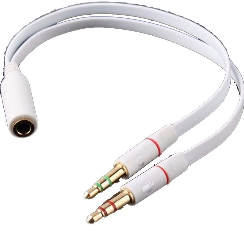 Cabo Adaptador P3 Femea (02 combo) 2x P2 Macho Audio Microfone Headset Fone de Ouvido  - HARDFAST INFORMÁTICA
