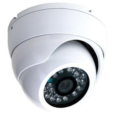 Camera Dome CCd Sony 1000linhas CFTV Segurança Hd Led Infravermelho IR Dia Noite Alta definição C/ Fonte e conector  - HARDFAST INFORMÁTICA
