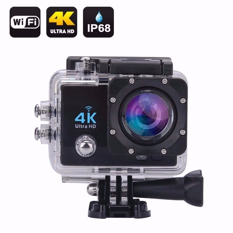 Camera GoCam Action Pro Sport 4k Full Hd Prova Agua Wifi  Moto Mergulho Capacete Skate Surf Bike  - HARDFAST INFORMÁTICA
