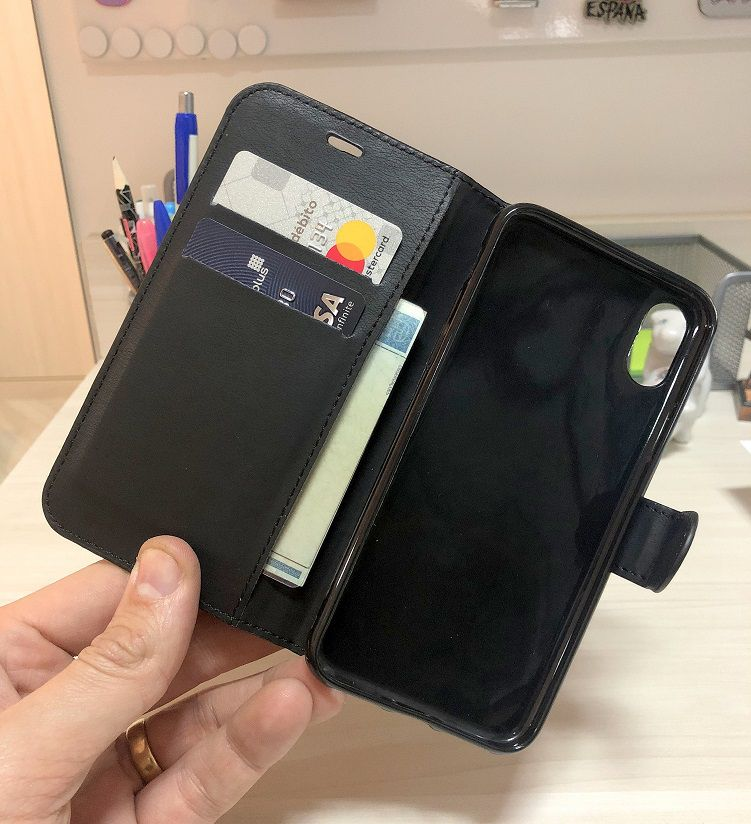 Capa Carteira Iphone X 10 Luxo Capinha Case + Película Gel  - HARDFAST INFORMÁTICA