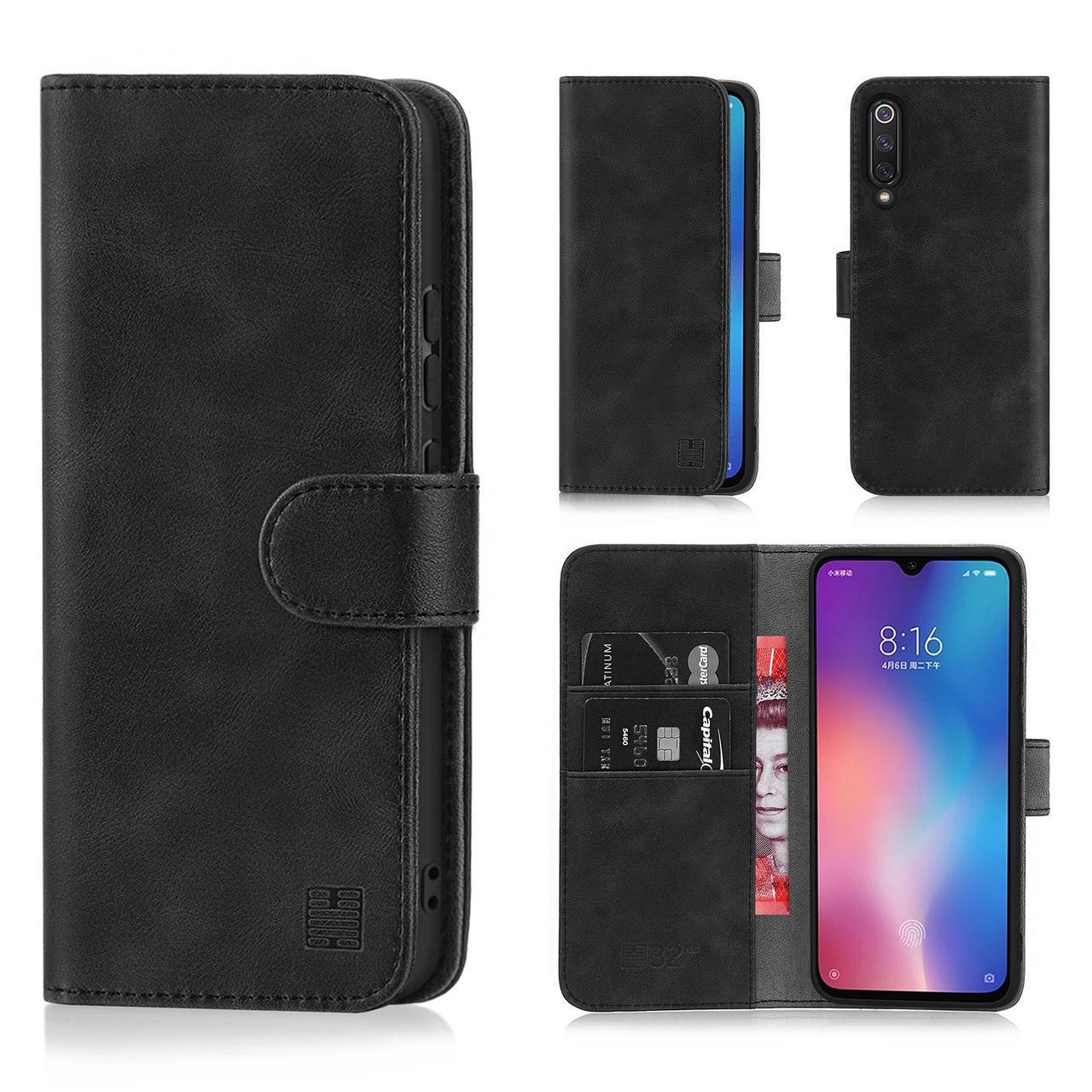 Capa Carteira Xiaomi Mi 9 / Se Preto + Pelicula Gel Limpeza Cartao Dinheiro Documento  - HARDFAST INFORMÁTICA