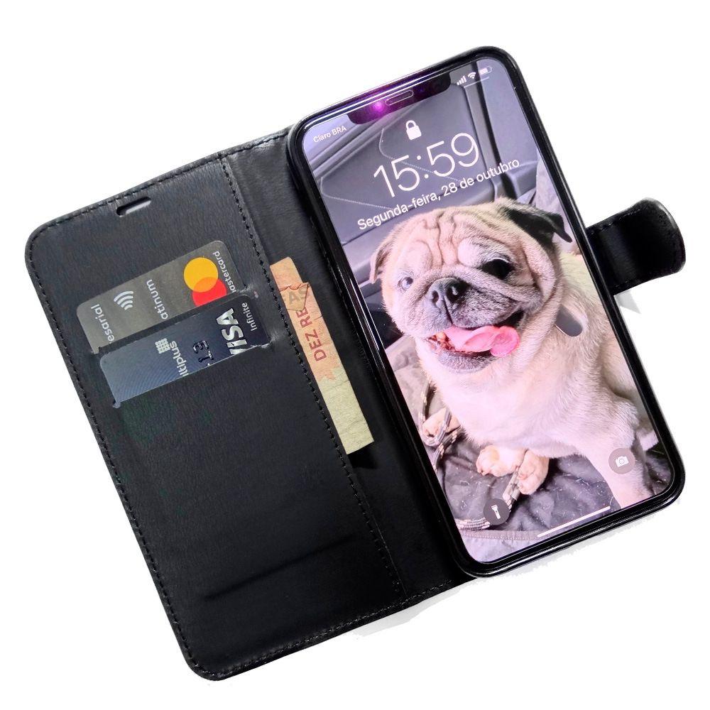Capinha carteira Iphone 11 + Pelicula Gel Kit limpeza Wlxy Capinha  - HARDFAST INFORMÁTICA