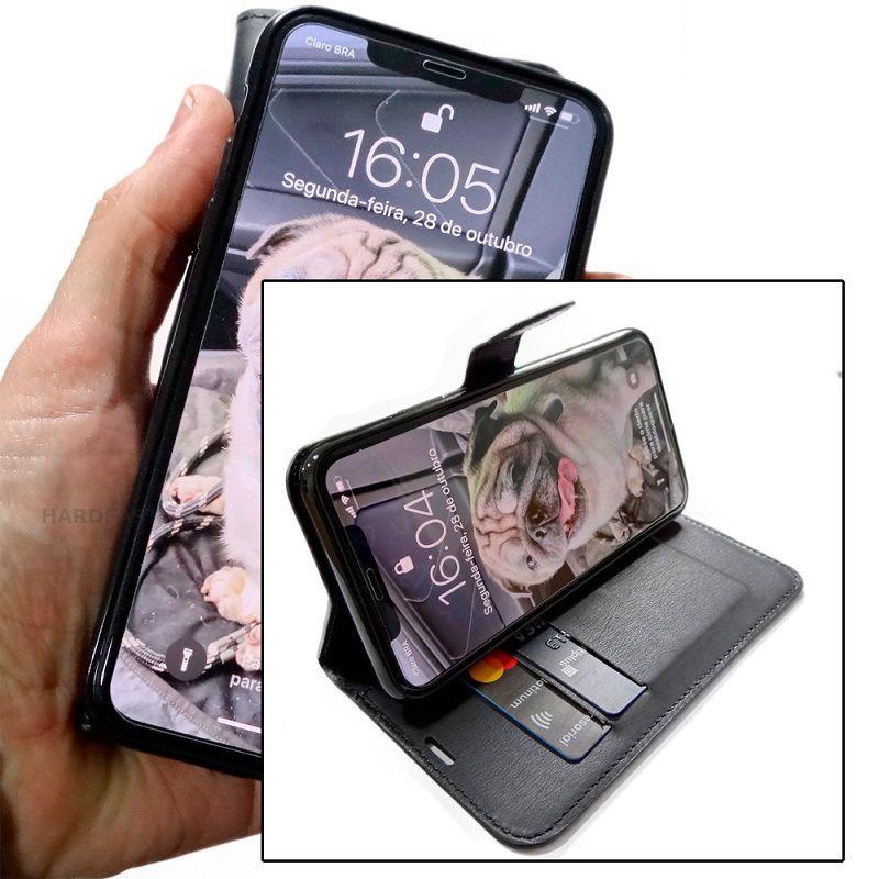 Capinha carteira Iphone 11 Pro + Pelicula Gel Kit limpeza Wlxy Capinha  - HARDFAST INFORMÁTICA