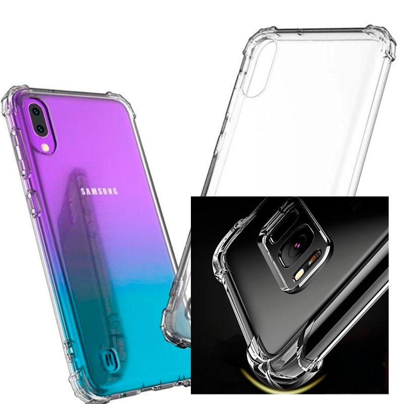 Capinha Silicone Samsung A10 Anti-choque + Pelicula Gel Wlxy  - HARDFAST INFORMÁTICA