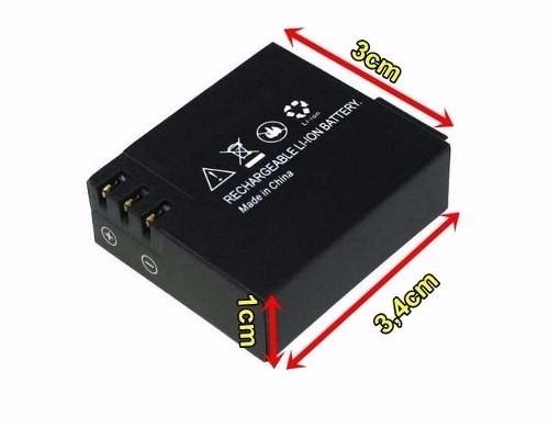 Carregador e Bateria Camera Sports Cam Sj4000 Universal Tj4000 Wifi X4000 Sj5000 A8  - HARDFAST INFORMÁTICA