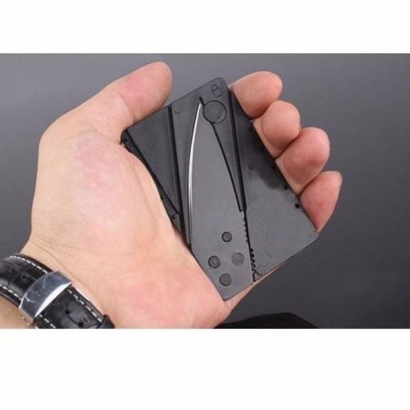 Cartão Faca dobrável tamanho credito lamina carteira Camping canivete Genuíno  - HARDFAST INFORMÁTICA