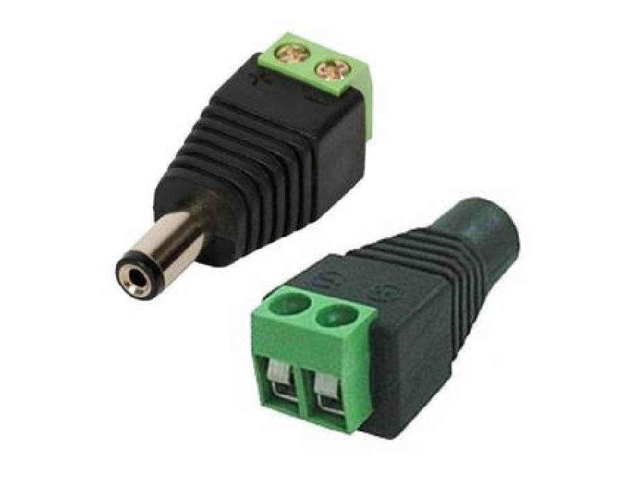 Conector P4 Macho (Borne) Kit com 4 peças Cftv Fonte Camera Segurança Alarme Som  - HARDFAST INFORMÁTICA