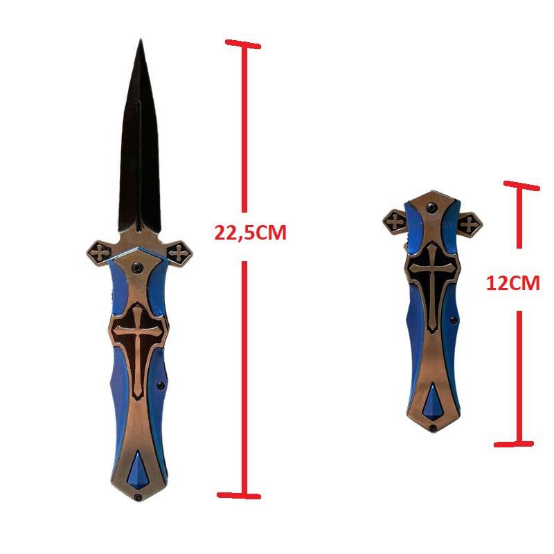 Faca Canivete Punhal Templário A Cruz e Espada Adaga Medieval Castelo com Fio aço inoxidável  - HARDFAST INFORMÁTICA