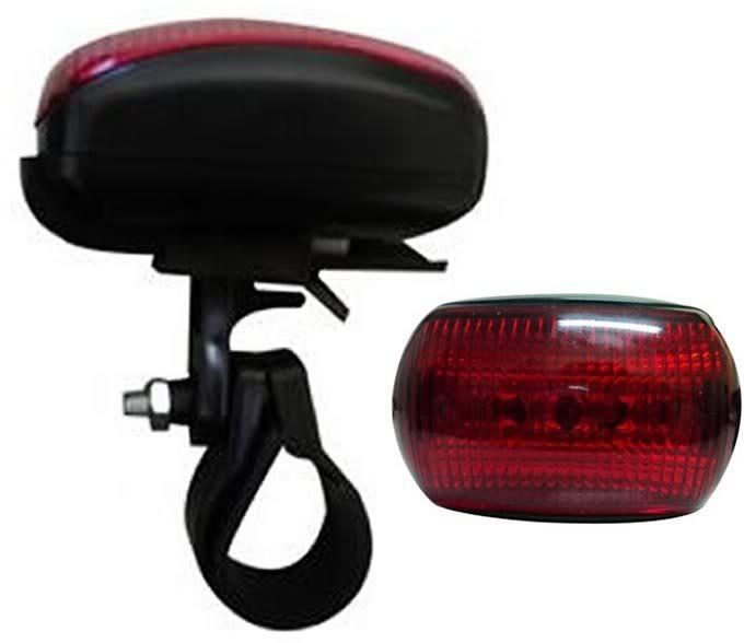 Farol Bicicleta Bike Sinalizador 5 Leds Lanterna Traseira Pisca Luz Dianteria  - HARDFAST INFORMÁTICA