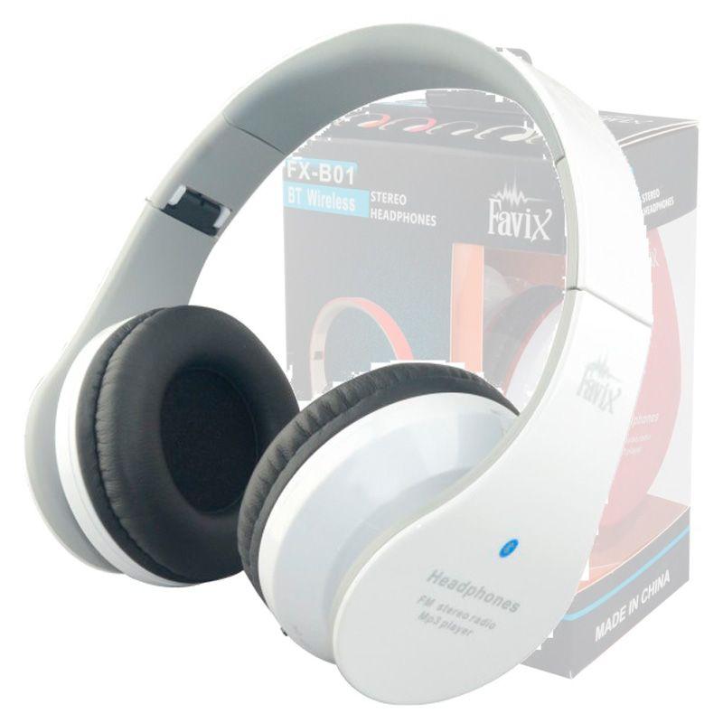 Fone Ouvido Favix B01 Headset Sem Fio FM Sd Card Branco Stereo   - HARDFAST INFORMÁTICA