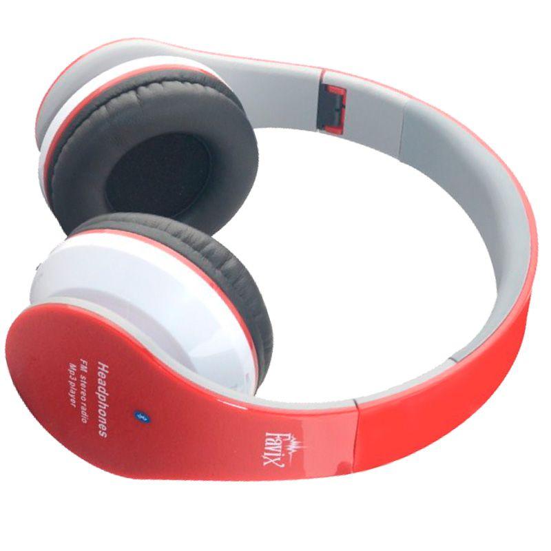 Fone Ouvido Favix B01 Headset Sem Fio FM Sd Card Vermelho Bluetooth  - HARDFAST INFORMÁTICA