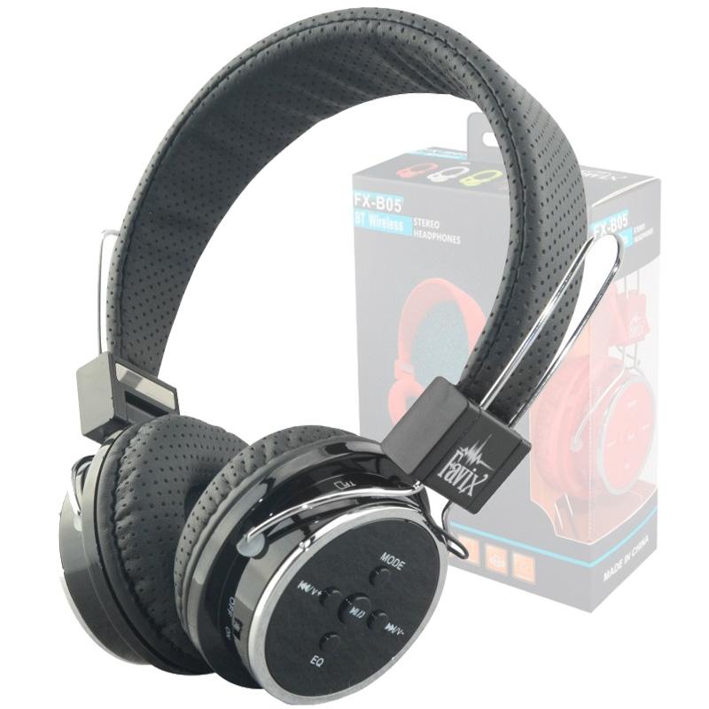 Fone Ouvido Favix Fx-b05 B05 Sem Fio Bluetooth Sd Card Fm Preto Original  - HARDFAST INFORMÁTICA