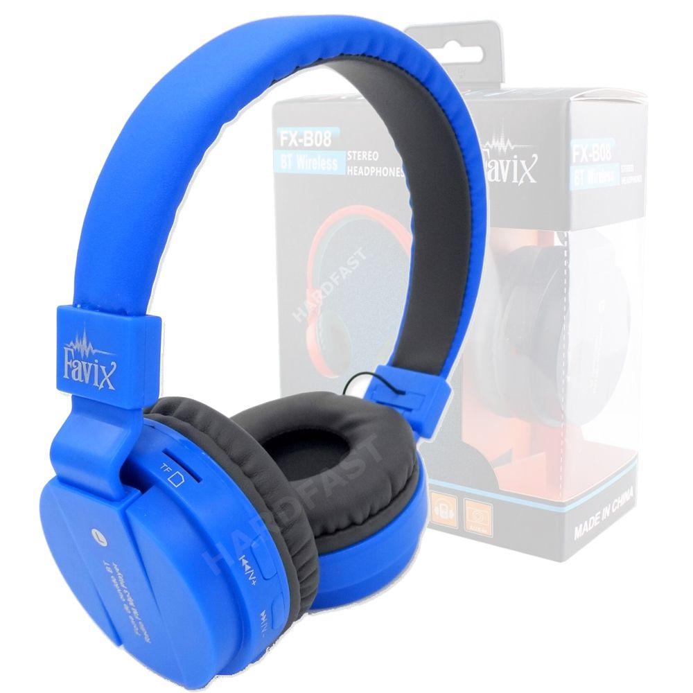 Fone Ouvido Sem Fio Favix B08 Cores Bass Bluetooth Fm Card  - HARDFAST INFORMÁTICA