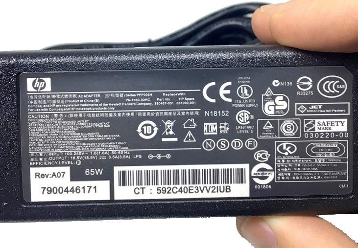 Fonte Carregador Notebook HP 18.5v 3.5a 65w G50 G60 G70 DV3 DV4 DV5 DV6 DV7  - HARDFAST INFORMÁTICA