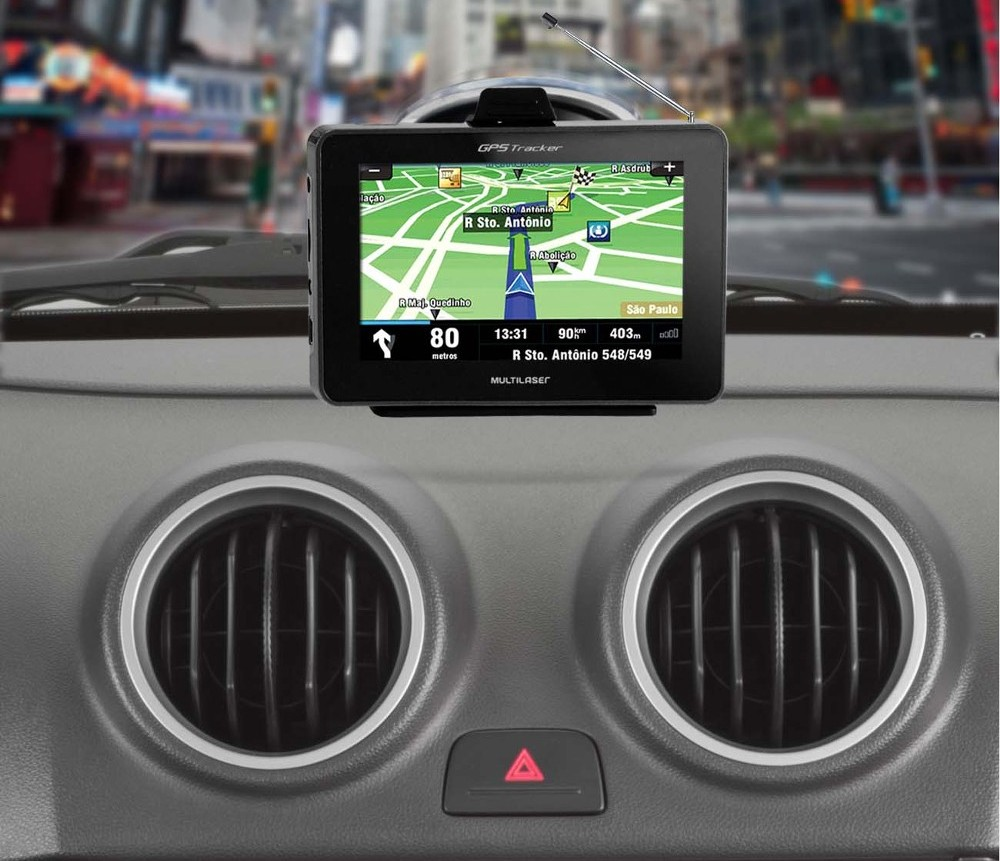 Gps Carro Tv Digital Tracker III 3 Brasil 4.3 Fm Modelo 2016 Chile Uruguai Argentina Miami Orlando Radares  - HARDFAST INFORMÁTICA