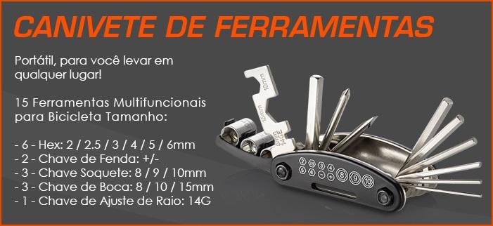 Kit Ferramentas Canivete Bike Skate Moto Chave Boca Allen Fenda Philips Soquete Hex Portátil  - HARDFAST INFORMÁTICA
