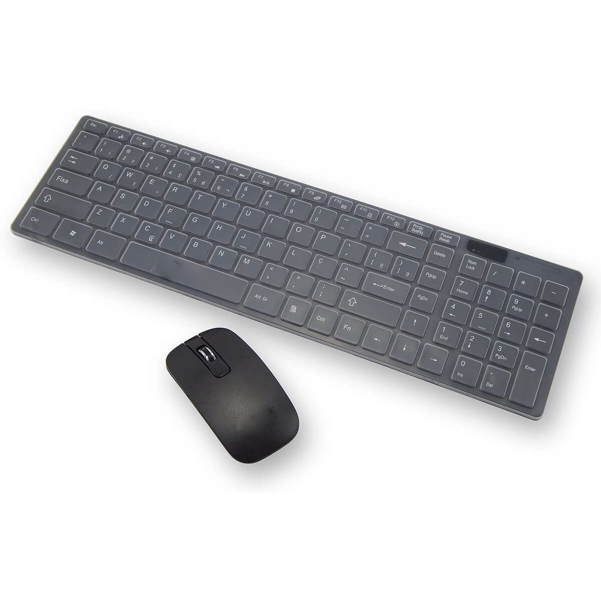 Kit Teclado e Mouse Sem fio Wifi Usb 1600Dpi 2.4Ghz Smart PC  - HARDFAST INFORMÁTICA