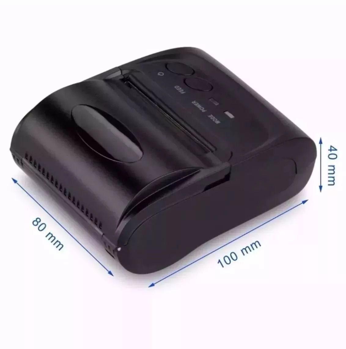 Mini Impressora Portatil Sem Fio Termica 58mm Android Ios Linux Bluetooth APP Qr Code  - HARDFAST INFORMÁTICA