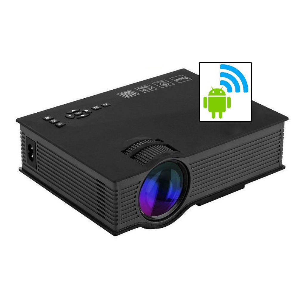 Mini Projetor Led Portátil Wifi 1800lumens Datashow Hdmi Vga Uc68  - HARDFAST INFORMÁTICA