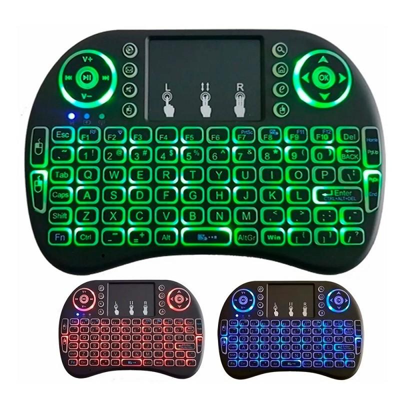 Mini teclado e mouse wireless Sem fio Wifi Usb Kit Wifi Com Led 2.4 Ghz  - HARDFAST INFORMÁTICA