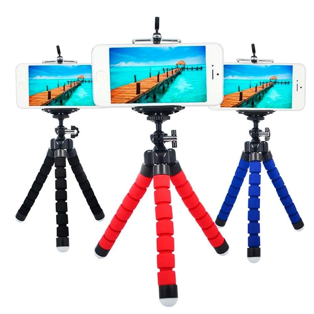 Mini Tripe Suporte De Mesa Escalavel flexível Para Celular Selfie Gira 360º  - HARDFAST INFORMÁTICA