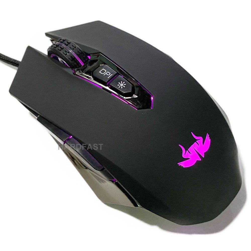 Mouse Gamer Mauser Usb Com Fio Computador Notebook 6400dpi  - HARDFAST INFORMÁTICA