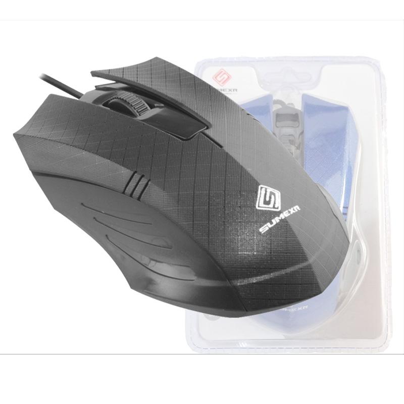 Mouse Optico USB SumeXR Fx-79 1200Dpi Usb Scroll 1.4M Cabo Cor Preto  - HARDFAST INFORMÁTICA