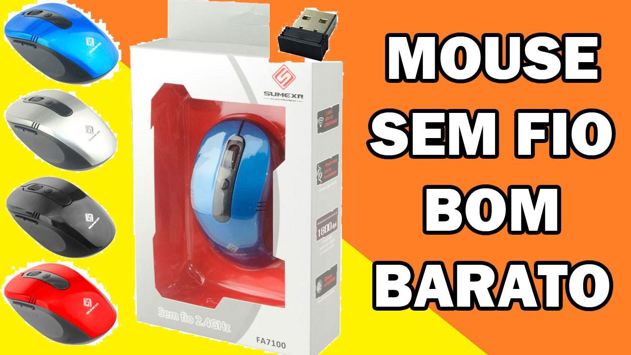 Mouse Sem Fio Wifi Usb 1600dpi Optico 3d Qualidade Cor Preto Favix  - HARDFAST INFORMÁTICA