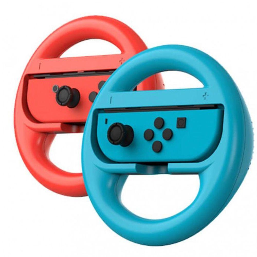 Par Volante Nintendo Switch Controle Joy-coin Grip Mario Kart Adaptador Corrida  - HARDFAST INFORMÁTICA
