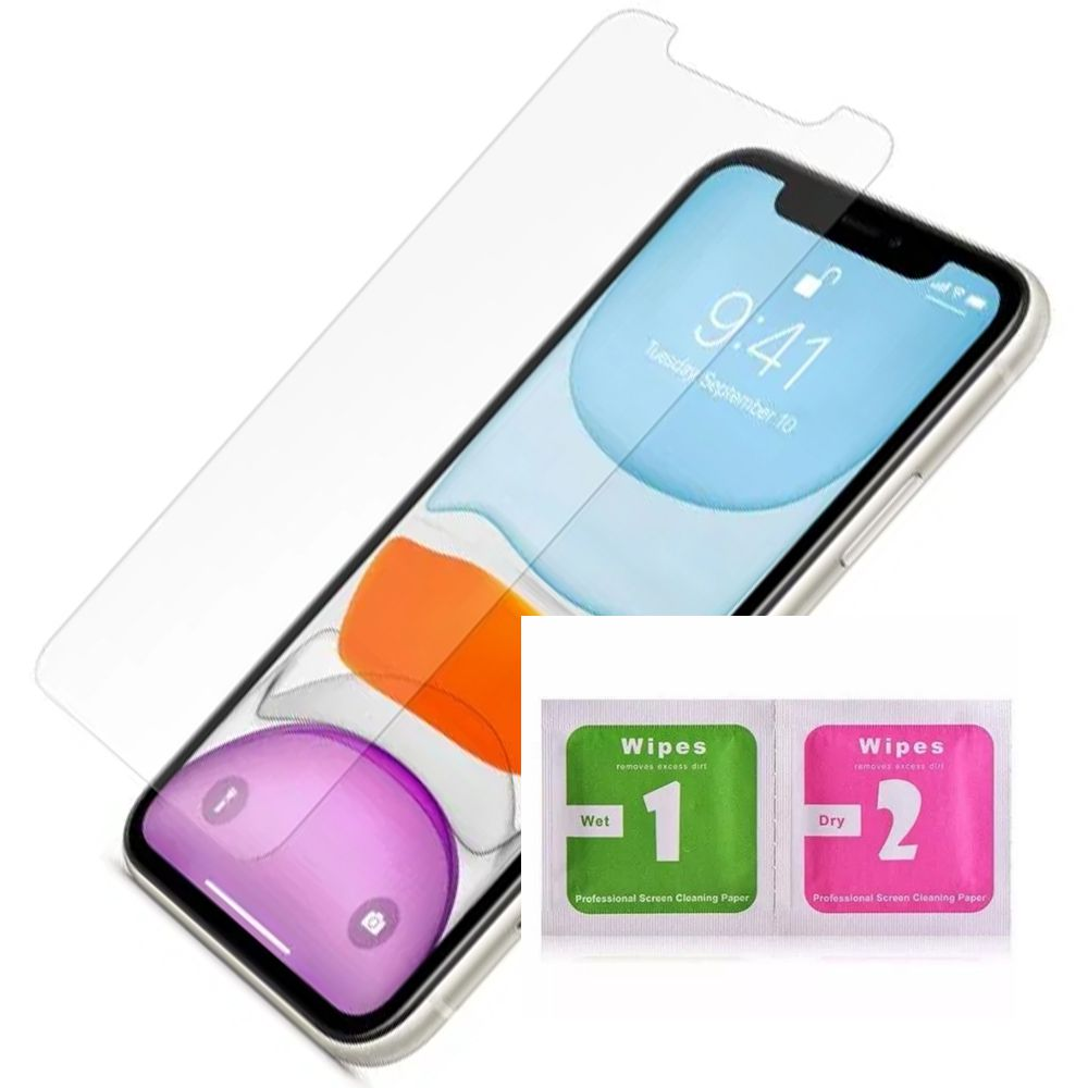 Pelicula Gel iPhone 11 / Pro / Max HidroGel Silicone Clear Wlxy + Kit Limpeza  - HARDFAST INFORMÁTICA