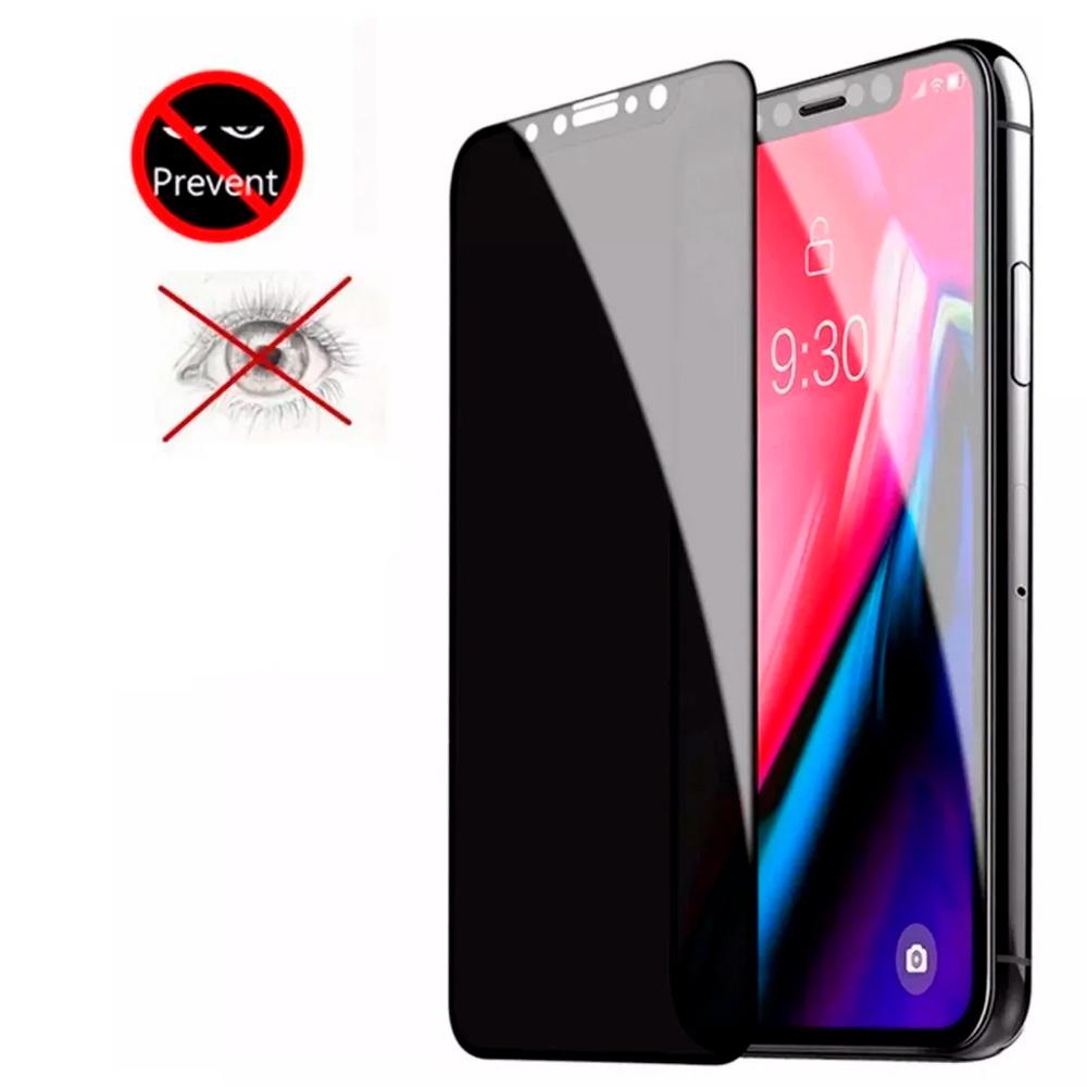 Pelicula Privacidade 3D Vidro Temperado Iphone 12 11 X XR Plus Varios modelos + Kit limpeza  - HARDFAST INFORMÁTICA
