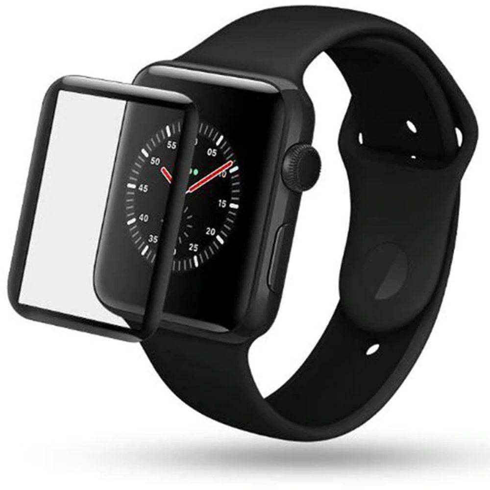 Pelicula Proteção Apple Watch 6D 38/40/42/44 mm serie 1 2 3 4 Borda Curvada  - HARDFAST INFORMÁTICA