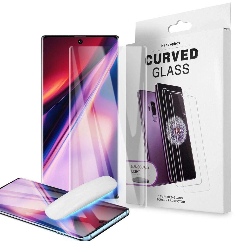 Pelicula Proteção UV Vidro Cola Note 8 9 10 S8 S9 S10 Plus 6D Borda Curvada Maxima Proteção  - HARDFAST INFORMÁTICA