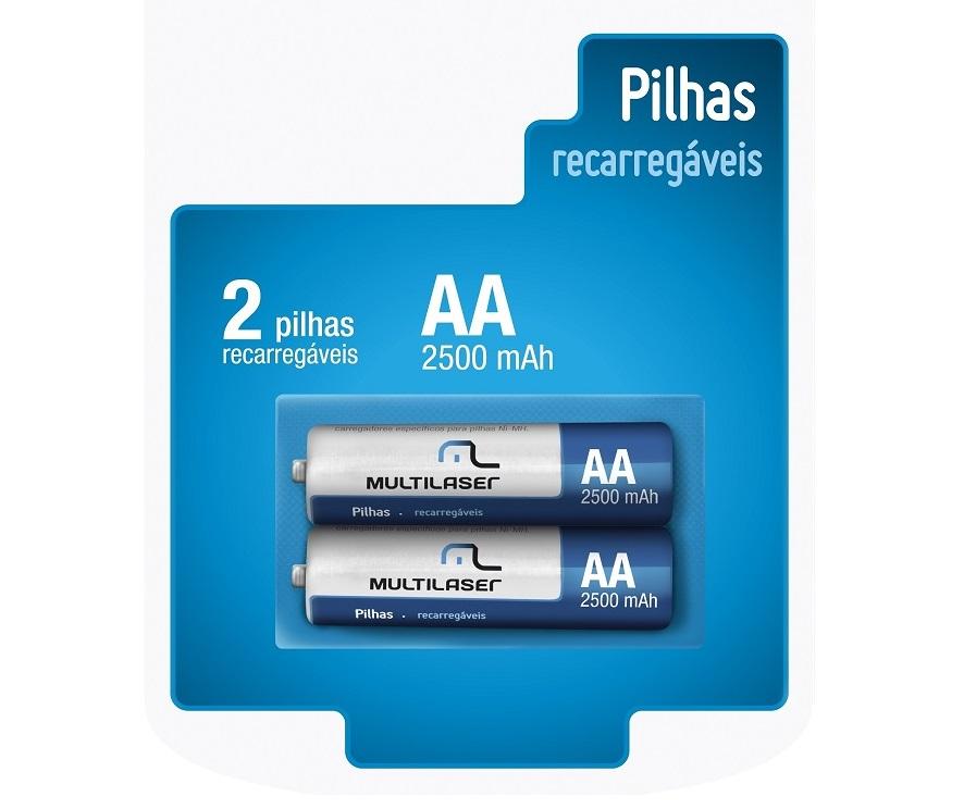 Pilhas Recarregáveis Recarregável 2500mah 2x peças AA Genuíno Pilha Recarregável Camera  - HARDFAST INFORMÁTICA