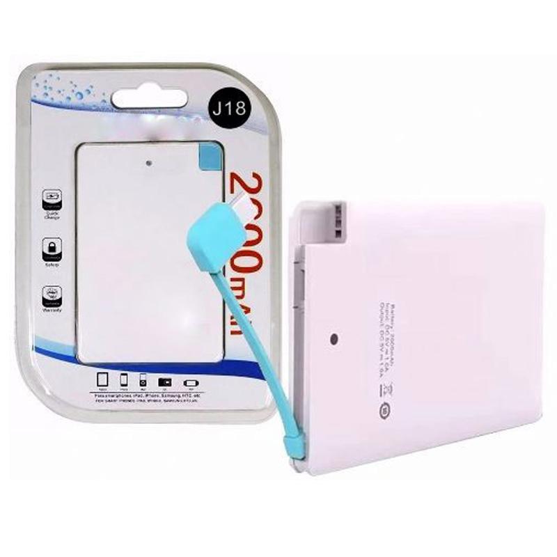 Power Bank Carregador Portátil de celular Micro USB 2600Mah Samsung Lg Motorola  - HARDFAST INFORMÁTICA