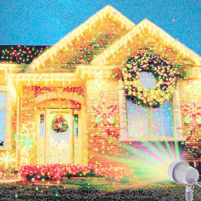 Projetor Laser Casa Jardim Light Natal Bivolt Led 5W Espeto  - HARDFAST INFORMÁTICA