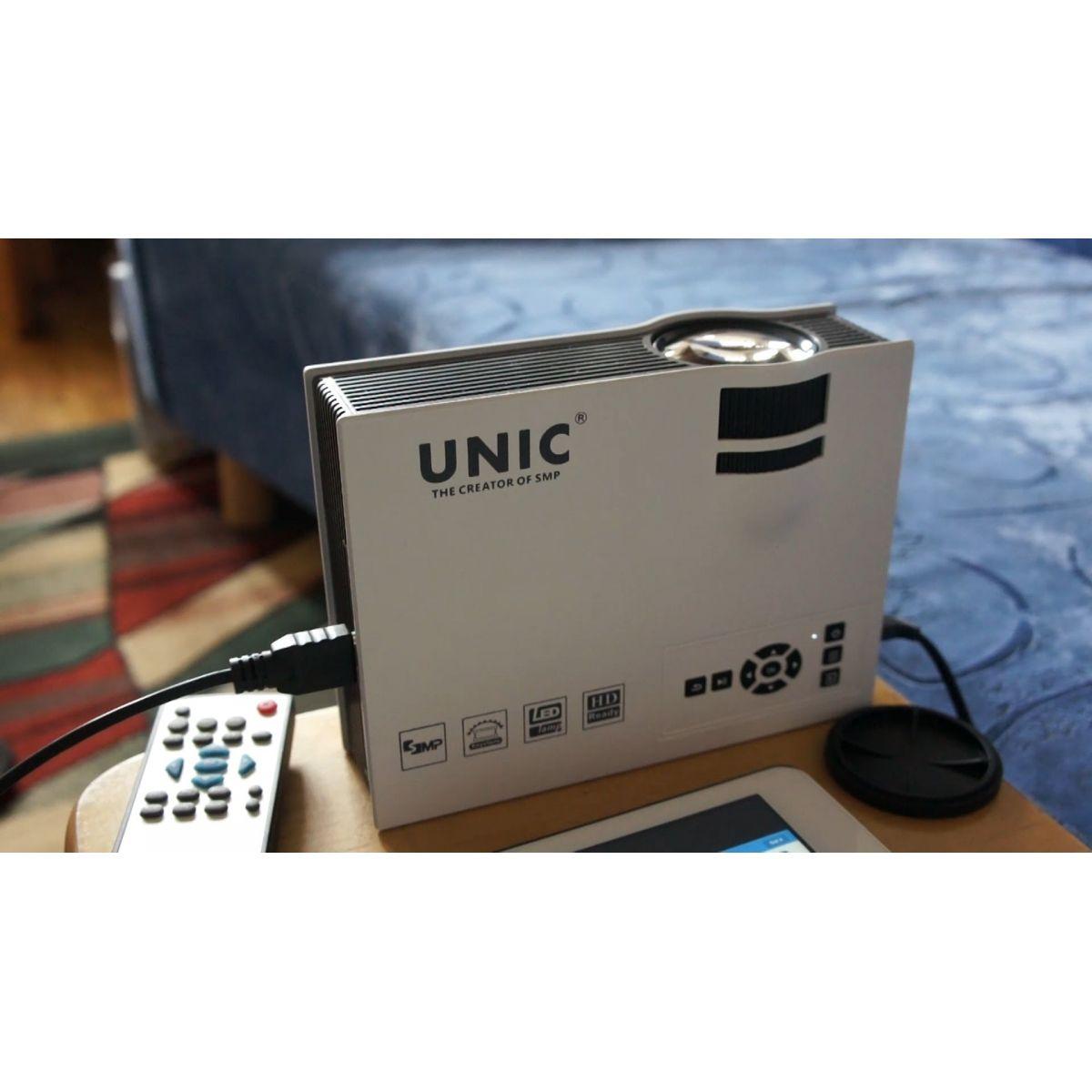 Projetor Unic Uc40 Original 800 Lumens Hdmi Mkv Usb Uniq HD Ps4 Xbox Dvix  - HARDFAST INFORMÁTICA
