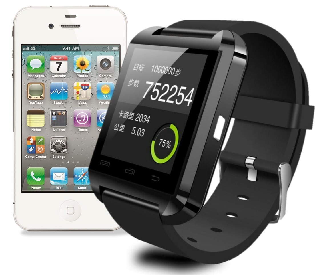 Relogio Bluetooth Smartwatch u8 Compativel Iphone e Android - HARDFAST INFORMÁTICA