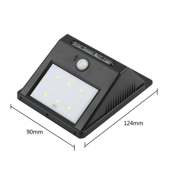Sensor Luz Led Carregador Solar Presença Arandela Balizador Parede Movimento  - HARDFAST INFORMÁTICA