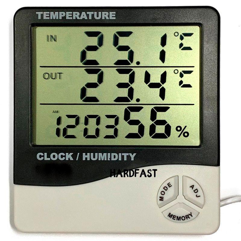 Sensor Termometro Digital Umidade Hidrômetro Relogio Sonda  - HARDFAST INFORMÁTICA